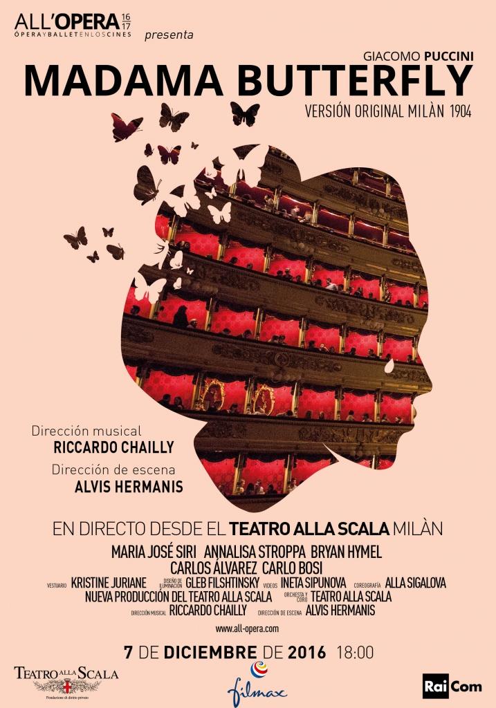 Ópera LIVE. MADAMA BUTTERFLY (cartel)
