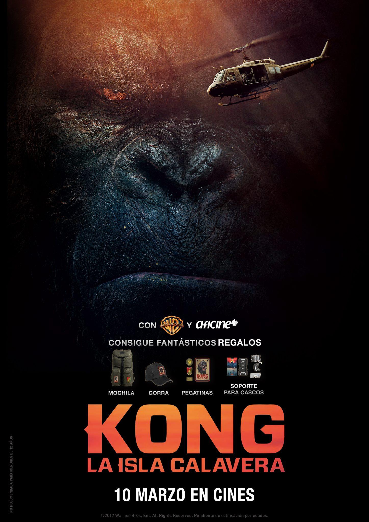 Kong: La isla calavera<br>Consigue fantásticos regalos