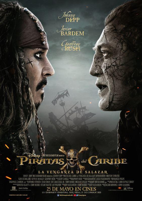 Piratas del Caribe: La venganza de Salazar (cartel)