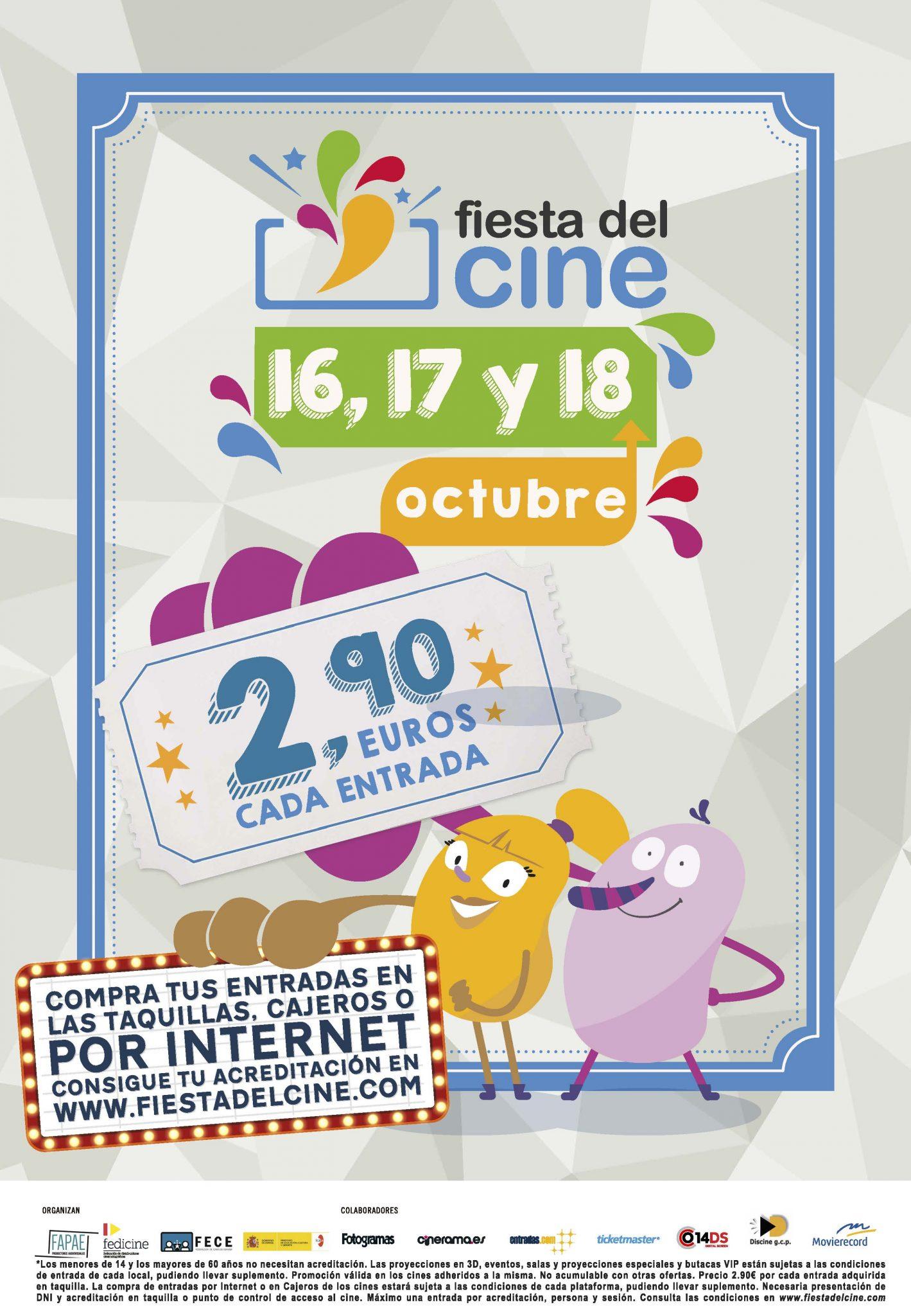 ¡Vuelve la Fiesta del Cine!<br>Octubre 2017