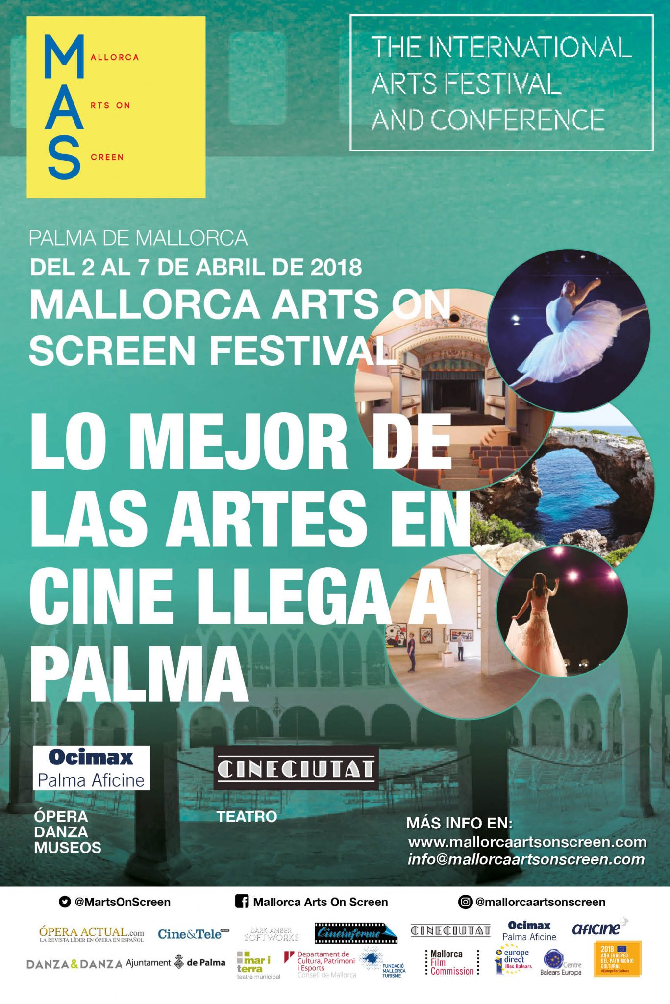 Gran EVENTO<br>MALLORCA ARTS ON SCREEN (MAS)