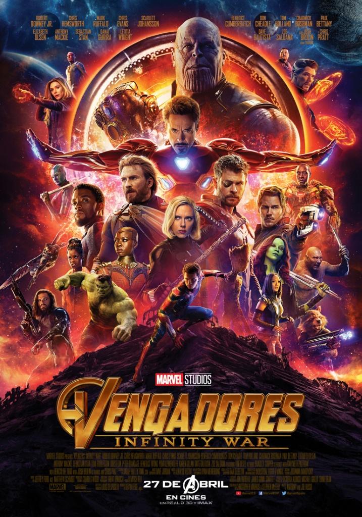 Vengadores Infinity War (cartel)