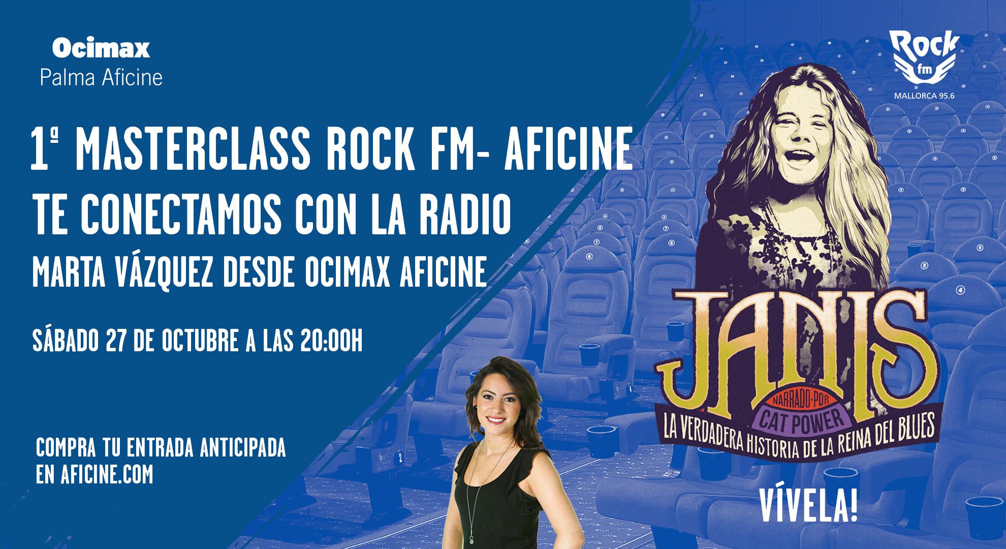 MASTERCLASS<br>ROCK FM – AFICINE LIVE MUSIC<br>Primera en España. Evento único!!