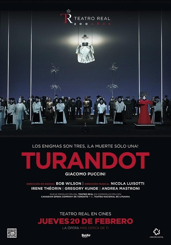 Ópera. TURANDOT (cartel)
