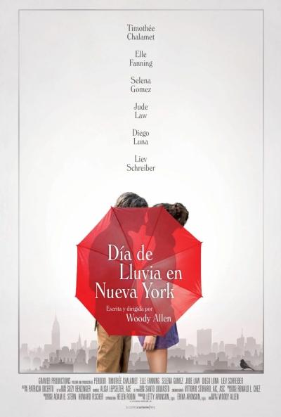 Día de lluvia en Nueva York (cartel)
