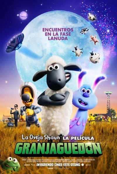 La oveja Shaun. La película: Granjaguedón (cartel)