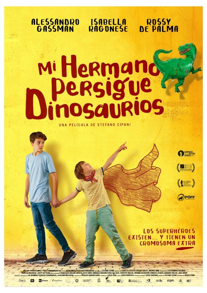 Mi hermano persigue dinosaurios (cartel)