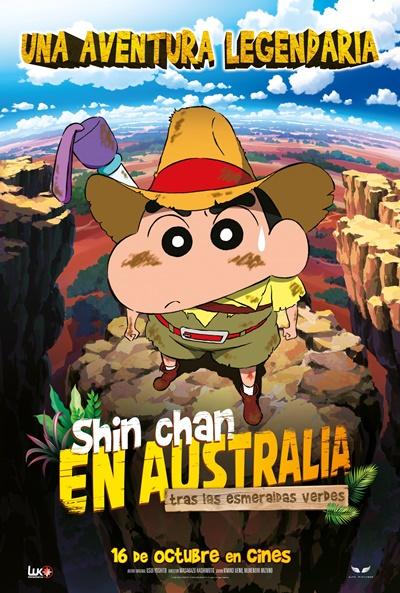 Shin Chan en Australia tras las esmeraldas verdes (cartel)
