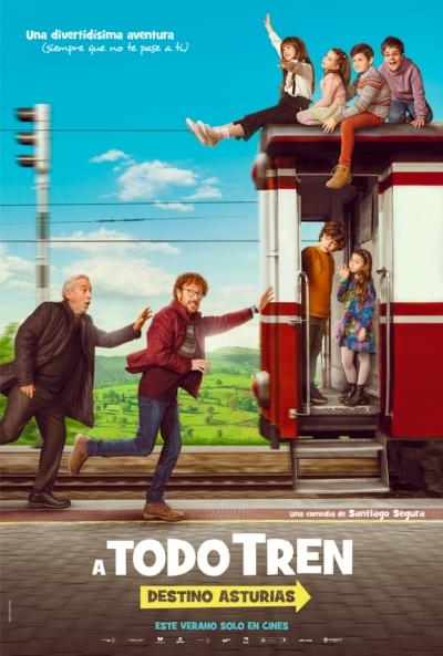 A todo tren. Destino Asturias (cartel)